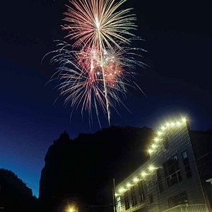 Fireworks above the Mainstage Theatre