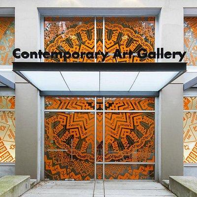 Gunilla Klingberg, installation on the CAG facade