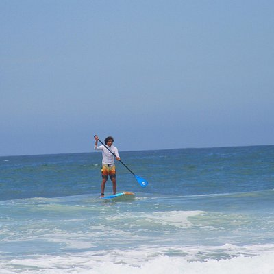 Paddleboarding in Manhattan Beach