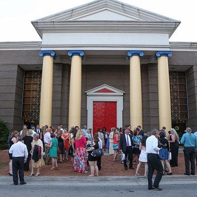 The big red front door