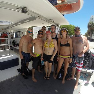 Guardian Scuba Students at West Marine Ft. Lauderdale on the American Dream II Dive Boat