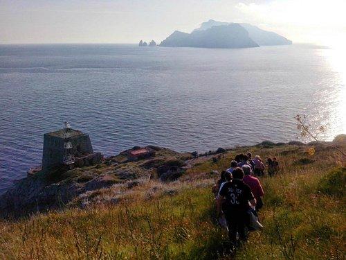 Veduta dal sentiero che porta a Punta Campanella