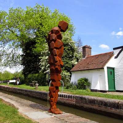 """LAND"" by Antony Gormley at Lowsonford"