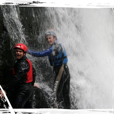 Canyoning in Wales with Blue Ocean Activities