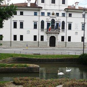 Verso il Palazzo della Provincia ( Cigni sull'ansa della Roggia di Palma)