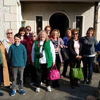 Irish tourism USA visits Knitfield 2015 for a Sunday morning workshop in Aran knit and Irish lac