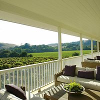 Enjoy our wines while sitting at our Veranda