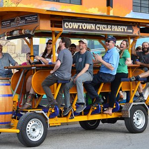 It's always FUN on The Cowtown Cycle Party! Book your party today!