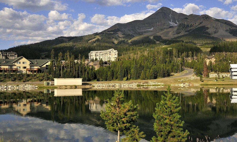 View of Big Sky Montana and Lone Mountain