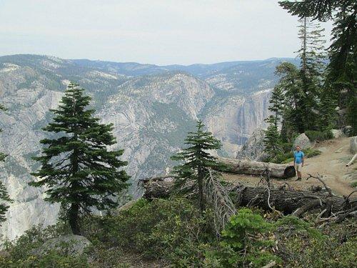 Walking the ridge along the Pohono Trail