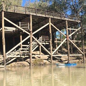 Kayaking on the Darling River