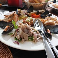 Seafood salat