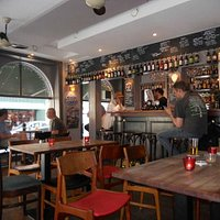 Inside the Black Swan pub