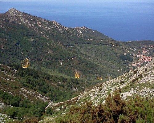 Monte Capanne, arrivo cabinovia