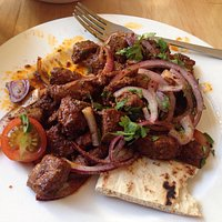 Lambs liver with spices.