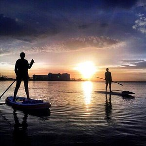 Sunset paddles