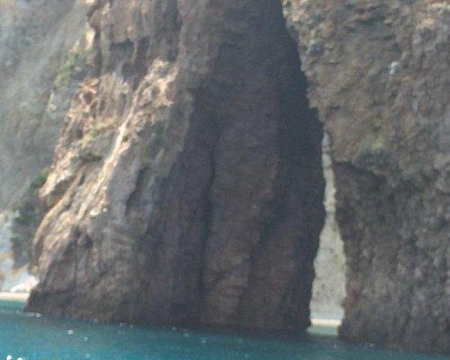 Parte della roccia a forma di cuore