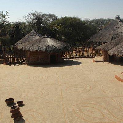 Внутренний двор зажиточной сети сото