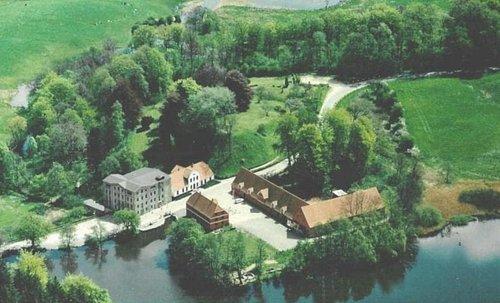 Luftfoto af området