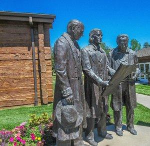 Brigham Young, Heber C. Kimball and Willard Richards