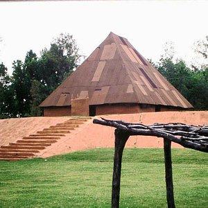 mound with hut