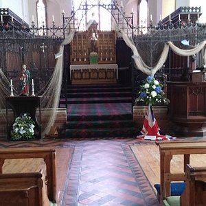 Interior of church showing High Altar