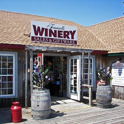 Tomasello Winery over the bridge