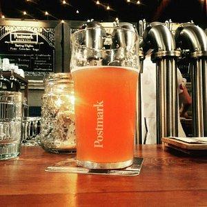 Postmark Brewing's Raspberry Lemon Zest Hefeweizen - my pick for the beer to beat in YVR.