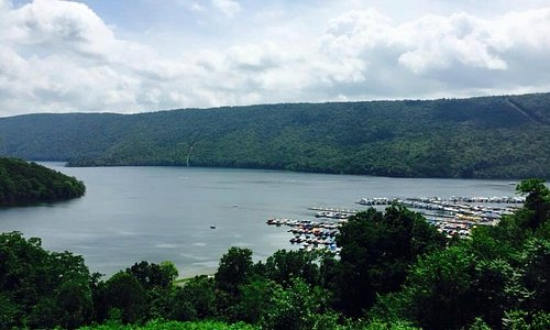 View of the lake from the Visitor's Center