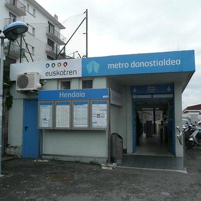 Euskotren Metro station at Hendaye
