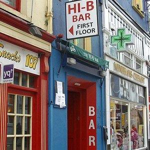External view of the Hi-B Bar (upstairs)