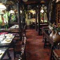 Der Innenraum des Restaurants obere Etage