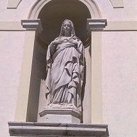 Particolare della facciata del Duomo di Latisana