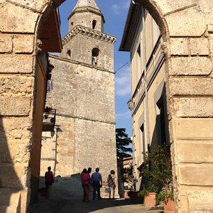 Vista dal portale d'ingresso