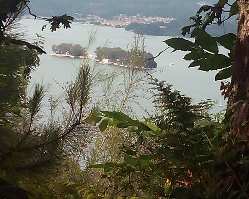 Isla de San Simón desde la ruta del Agua