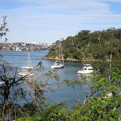 One of the many scenic anchorages and marinas along the walk