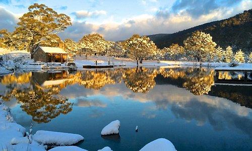 Winter Wonderland at Moonbah Huts