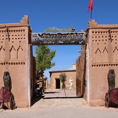 Eingang des Museums (gegenüber Kasbah Taourirt)
