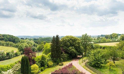 Het prachtige uitzicht van de Vlaamse Ardennen