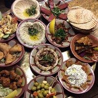 Tarboush Mezza platter to share