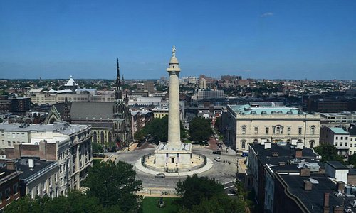 The Washington Monument and Mount Vernon Place