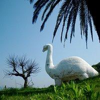 2015.04 公園入口の恐竜が目印