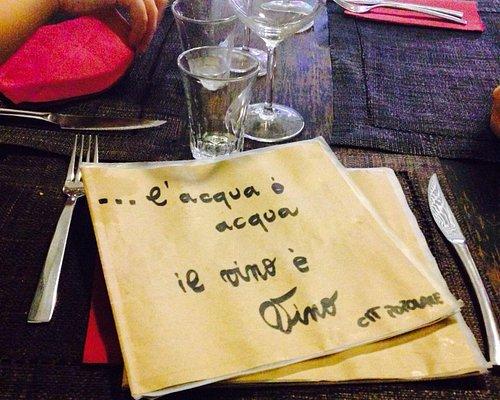 Dettaglio carta dei vini