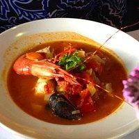 Saturna Café's Cioppino (seafood stew)