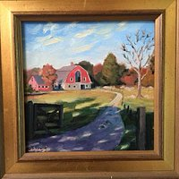 Painting of Weir R Farm by a Local Artist