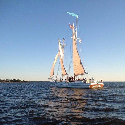 Schooner Joshua sailing off of Point Clear, Al