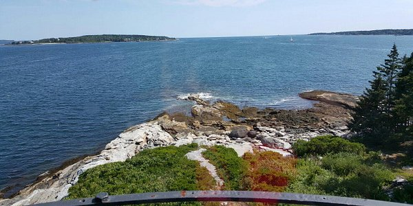 View from top of Burnt Island lighthouse