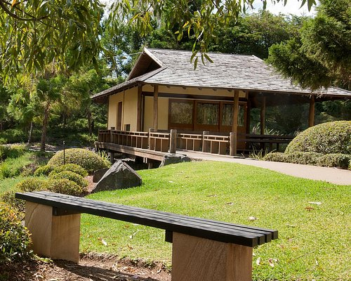 The tea house is Nerima Japanese-themed Gardens in Ipswich's picturesque Queens Park.