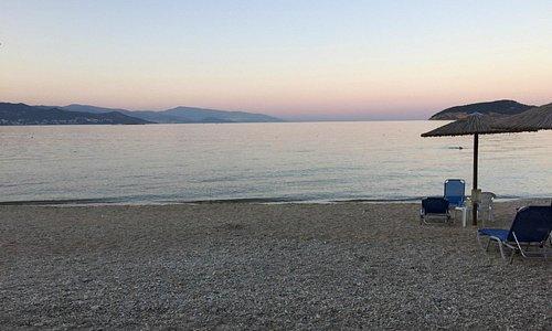 Nice sunset on Iraklitsa beach