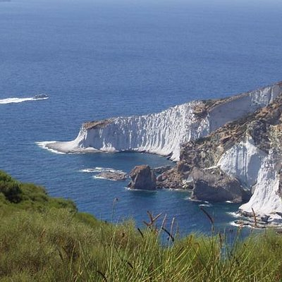Punta di Capo Bianco vista dall'alto.